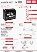 Baterie Bs Battery Activata BT12B-4  (YT12B-4) 151X70X130 12V 10AH Fara Intretinere
