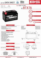 Baterie Bs Battery Activata BTX7A  (YTX7A-BS) 12V 6AH 152X88X94 Fara Intretinere