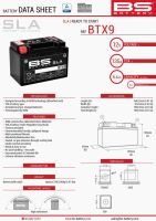 Baterie Bs Battery Activata BTX9 (YTX9-BS) 152X88X106 12V 8AH Fara Intretinere