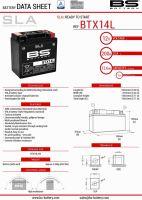 Baterie Bs Battery Activata BTX14 (YTX14-BS) 12V 12AH 150X87X145 Fara Intretinere