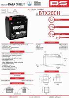 Baterie Bs Battery Activata BTX20CH (YTX20CH-BS, YTX20A-BS) 12V 18AH 150X87X161 Fara Intretinere