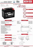 Baterie Bs Battery Activata BTZ5S  (YTZ5S) 12V 4AH 113X70X85 Fara Intretinere