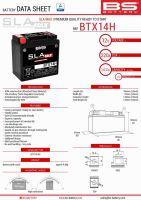 Baterie Bs Activata BTX14H MAX (YTX14-BS) 12V 14AH 150X87X145 Fara Intretinere