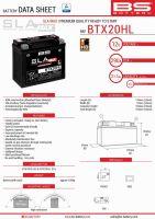 Baterie Bs BTX20HL MAX (YTX20L-BS) 12V 20AH 176X87X153 Fara Intretinere