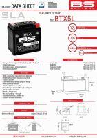 Baterie Bs Activata BTX5L  (YTX5L-BS) 12V 4AH 114X71X106 Fara Intretinere