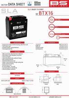 Baterie Bs Activata BTX16 ( (YTX16-BS) 12V 14AH 152X88X161 Fara Intretinere