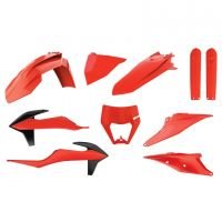Kit de Plastice Polisport Ktm  EXC / EXC-F `20-21  Orange Fluo