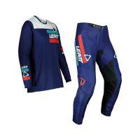 Leatt Moto 3.5 Combo Pantalon+Tricou Navy Blue/White