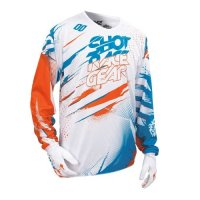 TRICOU SHOT DEVO CAPTURE WHITE/ORANGE/BLUE
