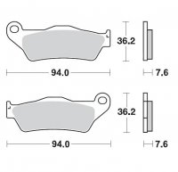 PLACUTE FRANA MINO MX FA181 KTM EXC-SXF 1998-2019 Fata