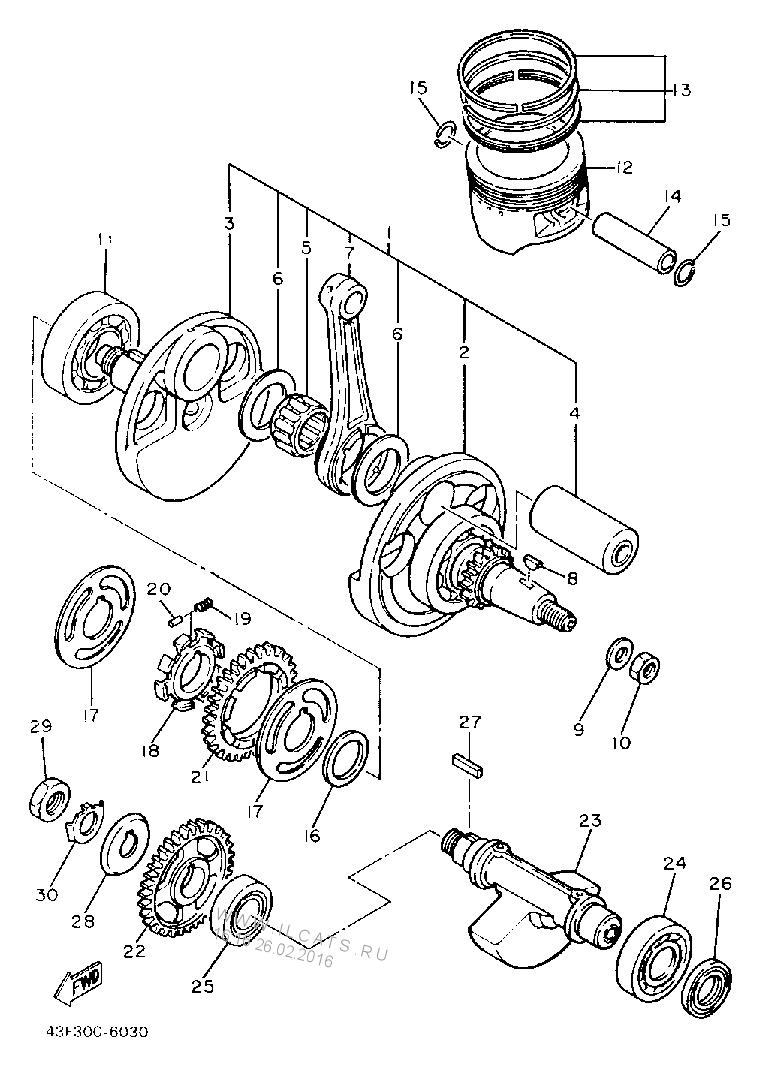 Biela Yamaha Xt 600 Fm Racing Raptor 660 Engine Diagram