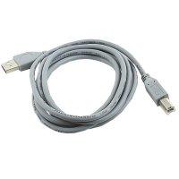 Cablu USB 2.0 A tata la USB B tata, 1.8m, calitate premium, bulk, Gri