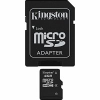 Card memorie MicroSDHC  4GB + adaptor SD (class4) Kingston