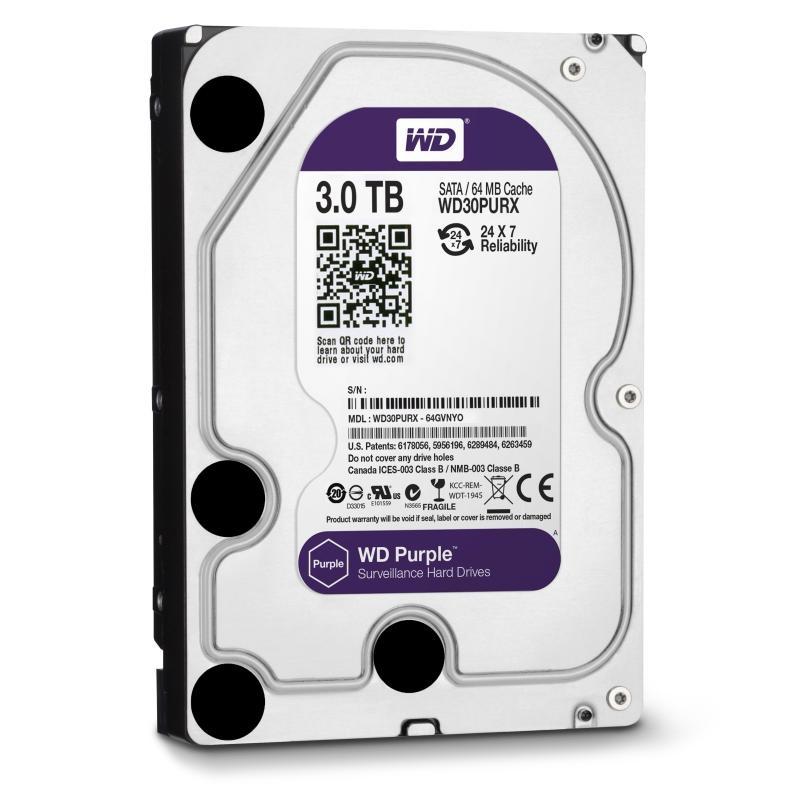 HDD WD Purple 3TB 64MB SATA3 (WD30PURX)