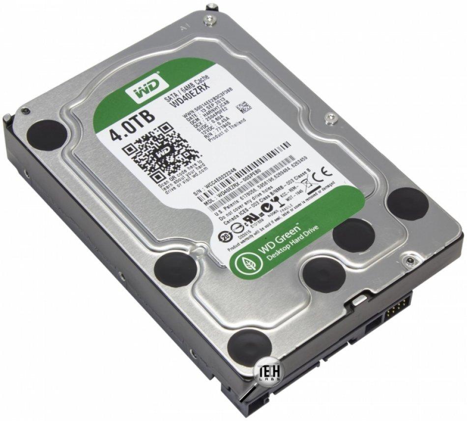 HDD WD Green 4TB 5400rpm 64MB SATA3 (WD40EZRX)