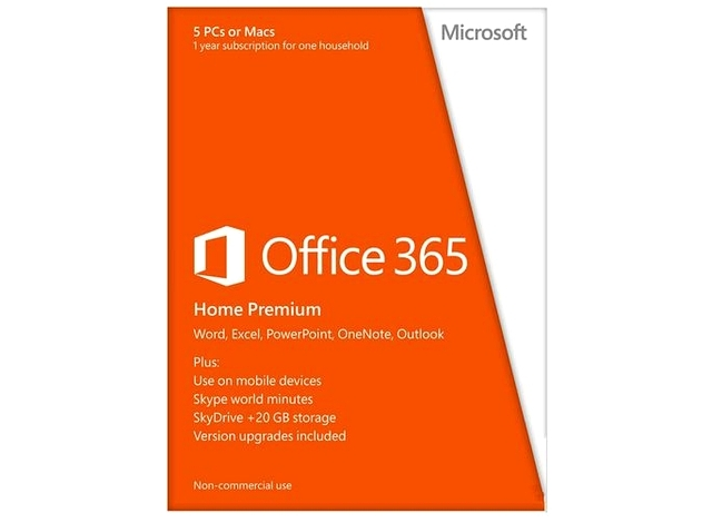 Microsoft Office 365 Home Premium, 1 an, EN (6GQ-00020)