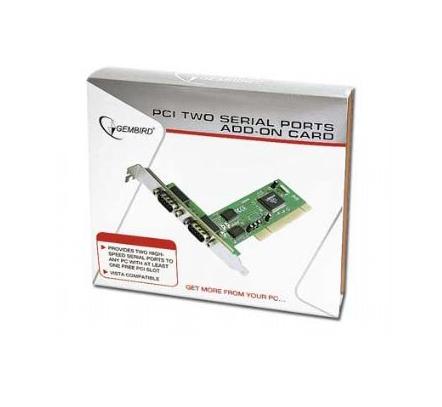 Card PCI 2.1 32-biti Adaptor la 2x Serial, chipset MCS9835, GEMBIRD (SPC-1)