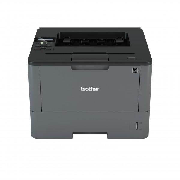 Brother HLL5100DN, Imprimanta mono laser A4, viteza printare: 40 ppm, rezolutie printare: 1200 x 1200 dpi, fpo: 7.2 sec, memorie: 256 MB, PCL6 BR Script 3 IBM Proprinter XL Epson FX850, tava intrare: 250 coli, tava iesire: 150 coli, duplex, USB 2.0 + rete