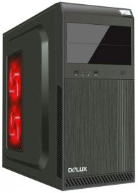 CARCASA Delux ATX Mid-Tower, Front USB+Audio, black (DC610)