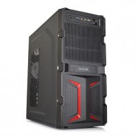 CARCASA Delux, cu sursa 450W, ATX Mid-Tower, Front USB+Audio, Black&Red (MV888)