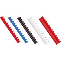 Inele plastic 10mm, max 65 coli, 100buc/cut, Optima, alb
