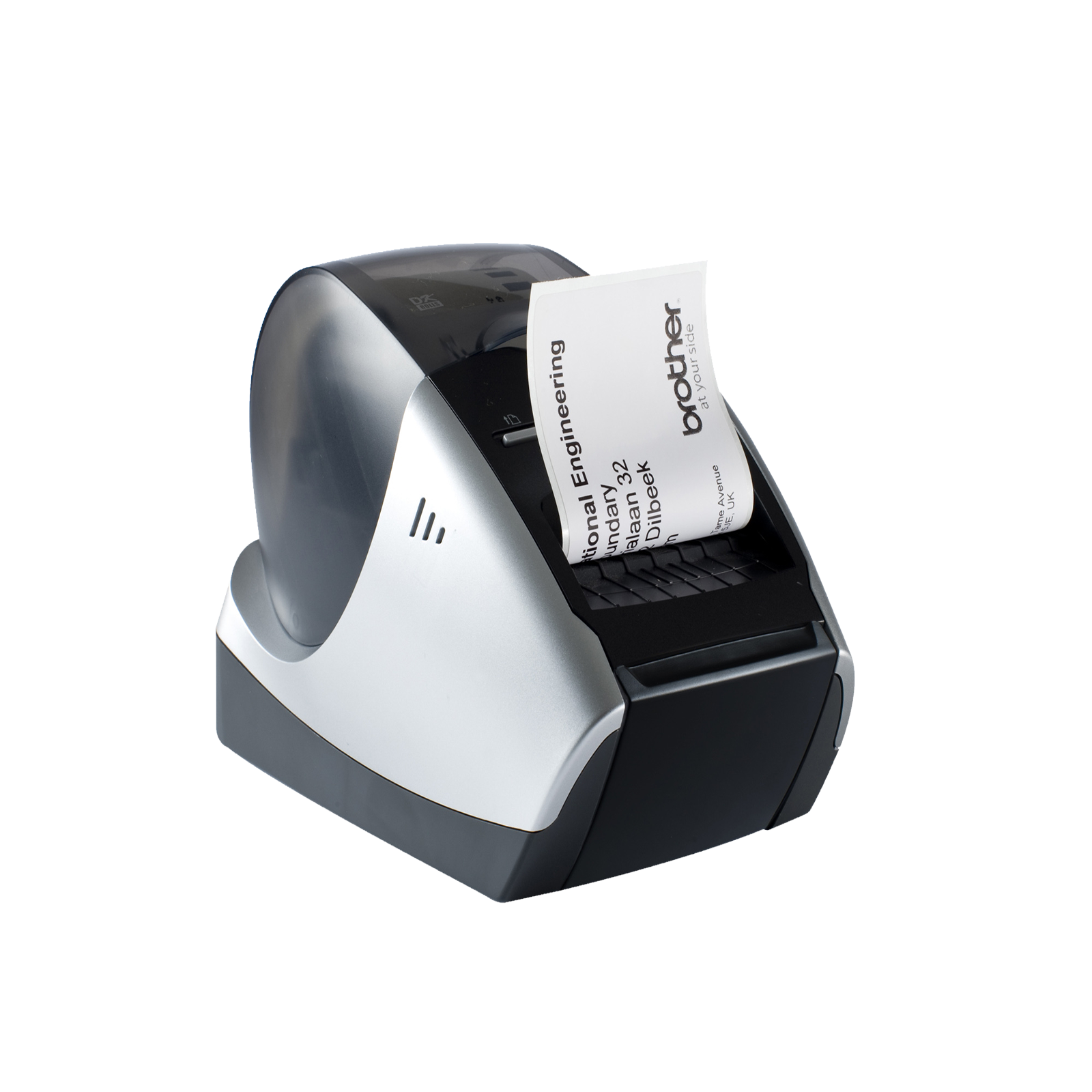 QL570, Imprimanta etichete direct termică , DK tape and DK label up to 62 mm width, 110 mm/s print speed, Fine resolution, automatic Cutter, USB Port.  1DK11201 (100 lables), 1DK22205 (8m), USB and mains cable