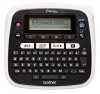 Brother PTD600VPYJ1, 10 stiluri de font, 8 marimi imprimare, Funcţie de imprimare coduri de bare, Imprimare verticala,7 linii imprimare, Viteză imprimare 30 mm pe secundă,Tastatură QWERTY, cutter automat, Memorie pentru 2800 caractere, Rezoluţie impr
