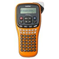 PTE100VP, Handheld, 9 marimi imprimare, 20mm/sec, imprimare in serie, 168 simboluri, latimi ale benzilor de pana la 12 mm (TZ), tastatura de tip ABCD, ecran LCD cu 12 caractere x 2 linii, cutter, 6 baterii AAA, adaptor AC, geanta