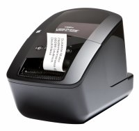 QL720NW, Label Printer Plug n Print, DK tape and DK label up to 62 mm width , 300*300 or 300*600 dpi,  Auto-Cutter, print speed: 93 labels per minute (150mm per second), 99 Templates or 6MB , 4 keys: On/Off, Editor Lite, Feed, Cut, 2 role de starter:   1