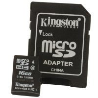 Card memorie Micro-SDHC Kingston | SDC4/16GB | 16 GB | Clasa memorie Clasa 4