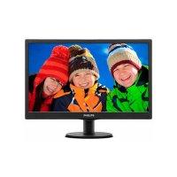 Monitor Philips 203V5LSB26/10 | 19.5 inch | LED | 1600 x 900 pixeli | 15:9 | 5 ms | Unghi vizibilitate 90/50 ° | D-Sub | Negru | 36 Luni Garantie