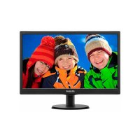 Monitor Philips 223V5LSB/00 | 21.5 inch, LED, TN panel, 1920x1080, 16:9, 5 ms, 250 cd/mp, 1000:1, 170/160, VGA, DVI-D, VESA, Kensington lock, Negru | 36 Luni Garantie