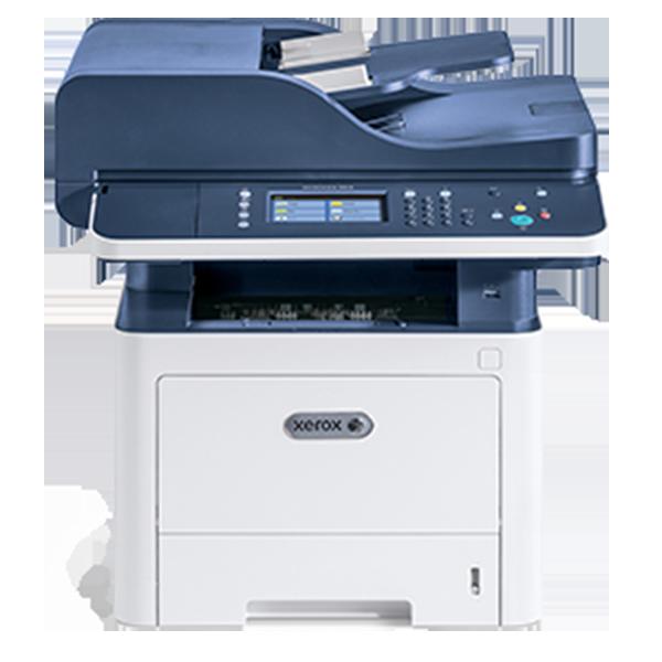 Xerox WorkCentre 3335DNI, A4, 33ppm, 16ppm in DUPLEX la printare, copy/print/scan color retea/fax, ADF 50 coli, 1200x1200dpi, PCL 5 si 6/PS3/PDF, fpo 6,5s, fco 12s, procesor 1GHz, memorie 1,5GB, alim 50+250 coli (max 850), iesire 150 coli, duty 50k/luna,