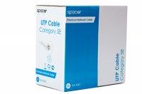 Cablu UTP Spacer cat 5E, cupru/aluminiu, 305m
