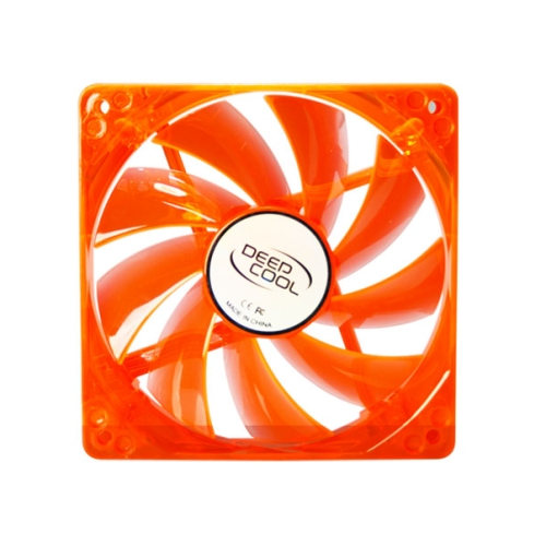 Ventilator carcasa DeepCool orange  4 green LED 120mm Hydro Bearing 1300 RPM