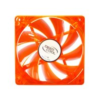 Ventilator carcasa DeepCool orange + 4 green LED, 120mm, Hydro Bearing, 1300 RPM