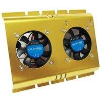 Cooler pentru HDD, cu doua ventilatoare