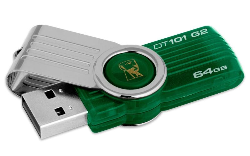 USB Stick KINGSTON DataTraveler 101 gen2 64GB, Green (DT101G2/64GB)