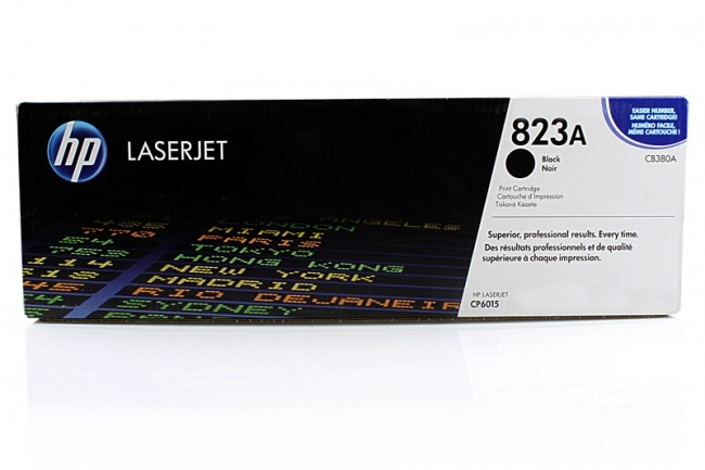 Toner Original pentru HP Negru, compatibil CLJ CP6015, 16500pag (CB380A)