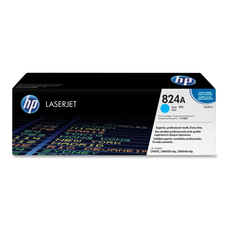 Toner Original pentru HP Cyan, compatibil LJ CP6015, 21000pag (CB381A)