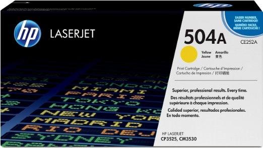 Toner Original pentru HP Yellow 504A, compatibil CP3525/CM3530, 7000pag (CE252A)