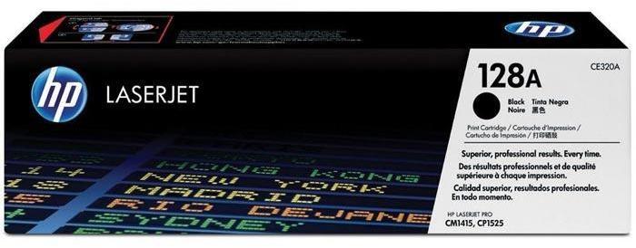 Toner Original pentru HP Negru, compatibil CP1525/CM1415 128A, 2000pag (CE320A)