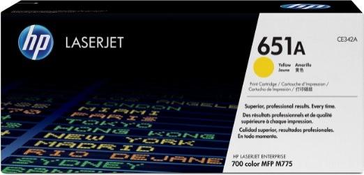 Toner Original pentru HP Yellow 651A, compatibil M775mfp, 16000pag (CE342A)