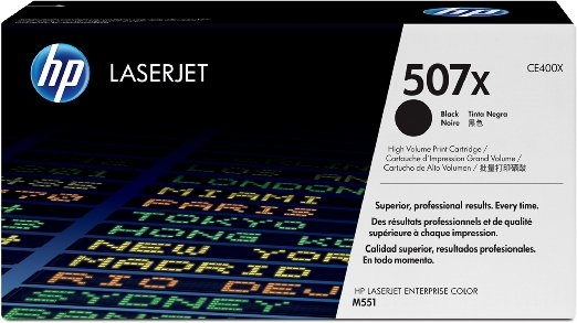 Toner Original pentru HP Negru 507X, compatibil LJ M551N, 11000pag (CE400X)