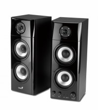 Boxe 2.0 GENIUS SP-HF1800A (31730908100), RMS 50W: 25W x2 sateliti, frecventa 20Hz - 20kHz, raport semnal 85dBA, butoane: volum, bass si trable, intrari audio: jack casti + line in, culoare: negru lucios-gri