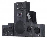 Boxe 5.1 GENIUS 'SW-HF5.1 4500' (31730979100) , RMS 125W: 16W x5 sateliti + 45W subwoofer, frecventa 40Hz - 20kHz, raport semnal 90dBA, telecomanda wireless, cu display, culoare: negru