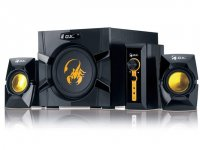 BOXE 2.1 GENIUS .'SW-G2.1 3000', RMS: 15Wx2 + 40Wx1, yellow & black, control box '31731016100'