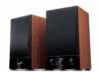Boxe 2.0 GENIUS SP-HF1250B (31731022100), RMS 40W: 20W x2 sateliti (difuzor 4') si tweeter 1', frecventa 20Hz - 20KHz, raport semnal 85dBA, doua cai, butoane: volum, bass, treble, pornire/oprire (spate), cu intrare casti, culoare: negru/lemn