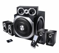Boxe 5.1 EDIFIER S550 Encore, 5x60W + 240W, raport semnal >85dBA, cu telecomanda wireless cu display LCD de 2' si telecomanda cu fir, culoare: negru-argintiu