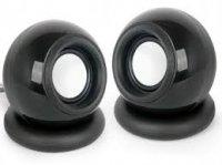 Boxe 2.0 Stereo 'Sphere', black 'SPK-AC-BK'